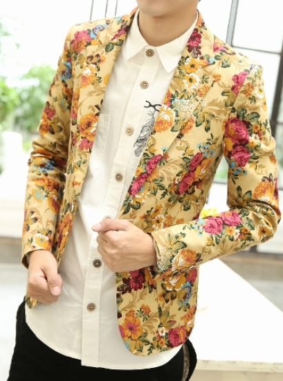 floral blazer with artistic and sophisticated design
