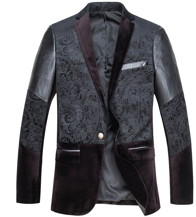 http://www.perfectmensblazers.com/shop-mens/outlet/men-clothing/blazers-new-tone-leather-sleeve-velvet-paisley-blazer-p-622.html